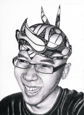 Graphite Self Portrait by Joned Rahadian