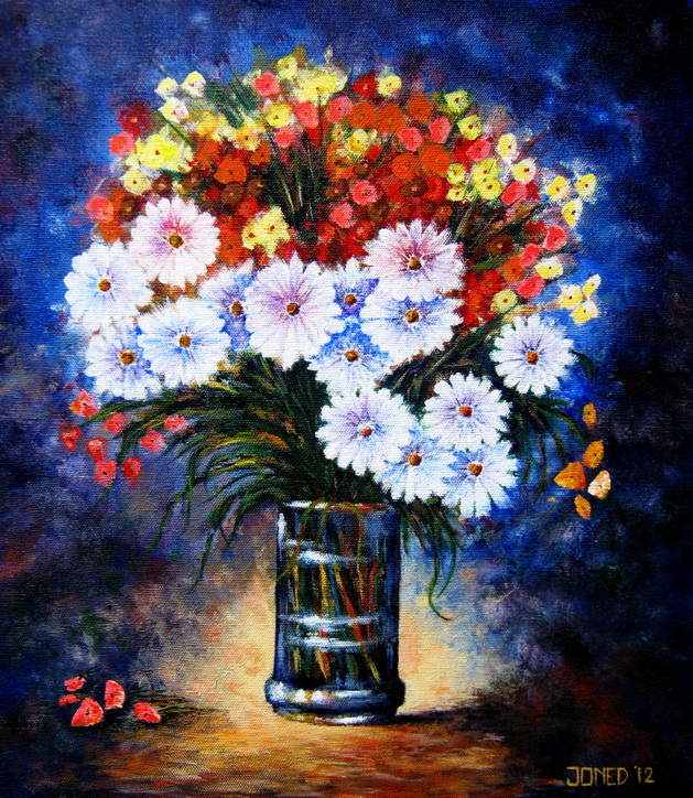 Flowers In A Vase By Joned Rahadian Not For Sale Joned Art Space